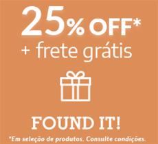 Inverno Found it: 25% OFF mais frete grátis em seleção de produtos