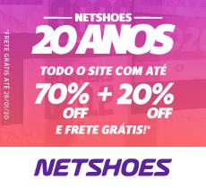 Netshoes com até 70% de desconto mais 20% OFF da parceria!