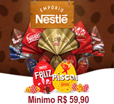 Páscoa Nestlé: até 12% desconto cumulativo aos descontos do site regular