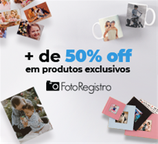 Mais de 50% OFF na FotoRegistro!