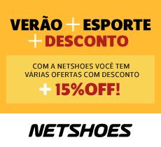 Verão Netshoes: descontos incríveis mais 15% da parceria na finalização