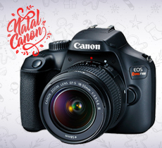 Natal Canon: Câmera EOS Rebel T100 reembalada por R$ 1.200,00