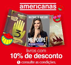 Americanas.com: seleção de livros com 10% de desconto.