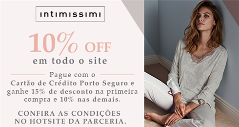10% de desconto em roupas femininas e masculinas na Intimissimi babd38b339f