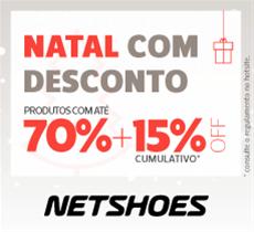 Natal Netshoes: até 70% em uma seleção de produtos mais 15% da parceria