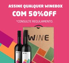 50% OFF no plano mensal Winebox!