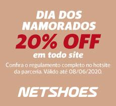 Dia dos Namorados na Netshoes: 20% OFF em todo o site!