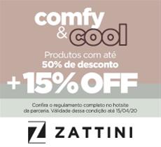 Comfy Cool: produtos com até 50% OFF mais 15% de desconto da parceria.