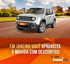 Diárias a partir de R$ 70,00 mais condutor adicional na Movida